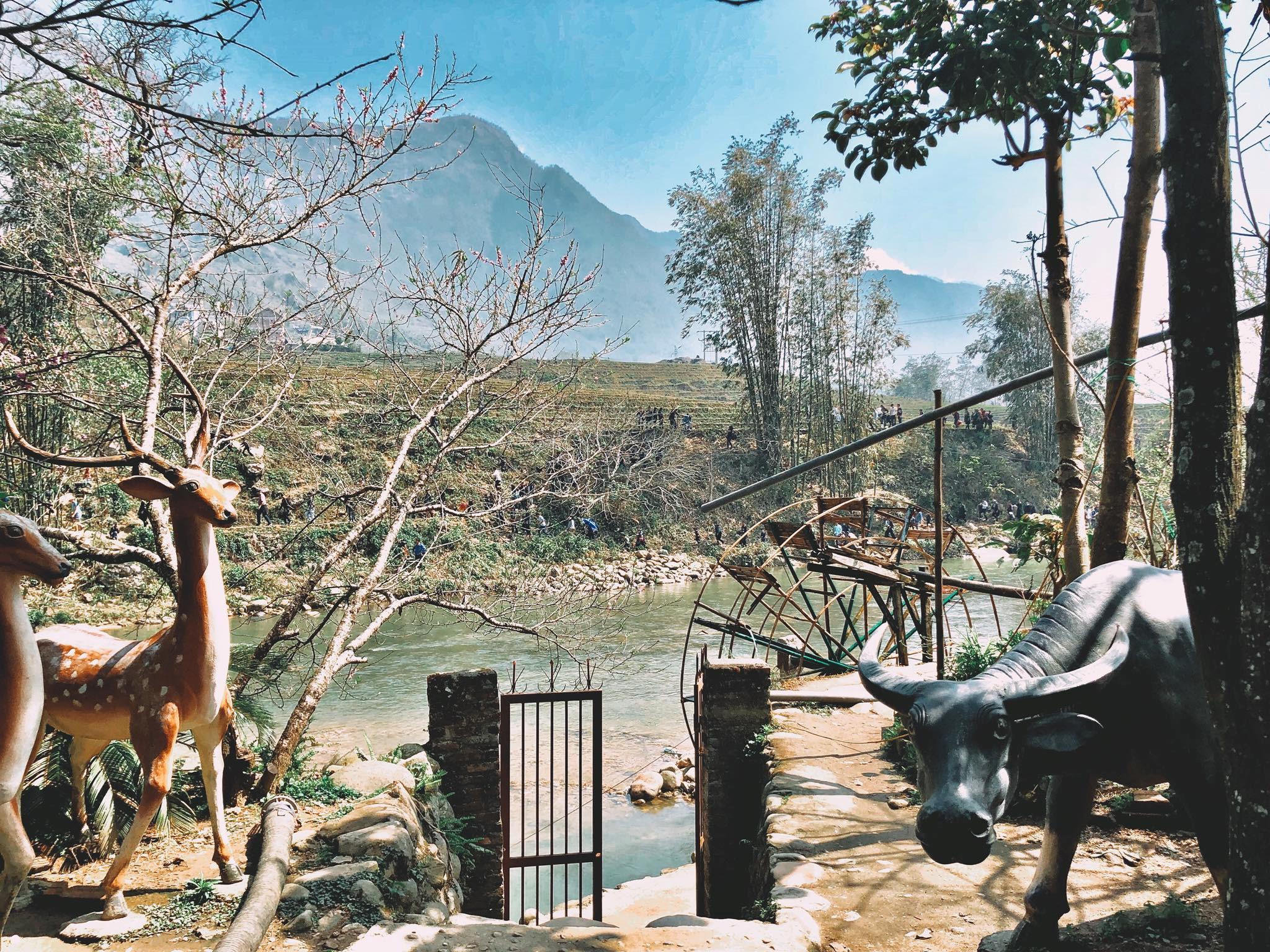 Bên cạnh đó, một nét đặc trưng của du lịch Sa Pa và cũng là trải nghiệm mà du khách rất yêu thích đó là đi bộ tham quan các bản làng. Như bản Cát Cát, Tả Phìn, Sín Chải, Tả Van… Lội suối, đi cầu treo, băng qua các thửa ruộng bậc thang, bạn đến với nơi cư ngụ của đồng bào các dân tộc H'Mông, Dao Đỏ, Tày… Ảnh: Bản Cát Cát - Cat Cat Village, @d.l.829.