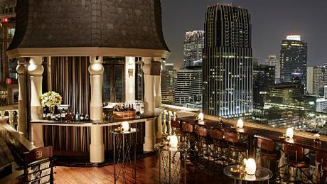 Nơi lý tưởng để nhấm nháp rượu vang và ngắm nhìn Bangkok từ trên cao. Ảnh: HM Bangkok.