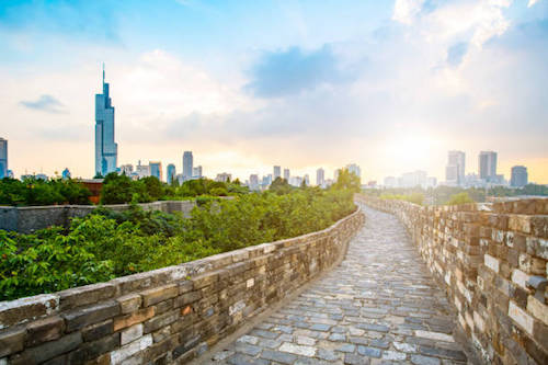 Tường thành Nam Kinh ngày nay. Ảnh: Pinterest.