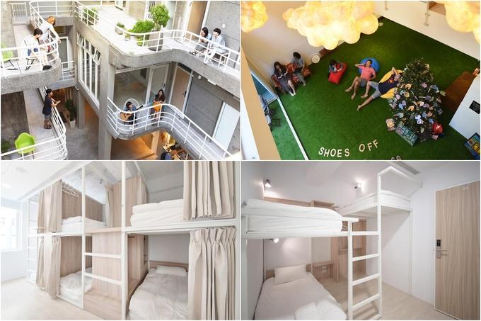 Nằm ở quận Datong, Flip Flop Hostel - Garden là điểm đến dành cho những ai thích không gian xanh, thoáng. Không tăm tối như các hostel khác, Flip Flop ưu tiên lấy ánh sáng mặt trời, có ban công cho khách thư giãn. Cách hai ga lớn Taipei main station, Zhongsan chỉ 300m nên nơi này khá thuận tiện khi di chuyển. Giá phòng một đêm rẻ nhất là 370.000 đồng/người.