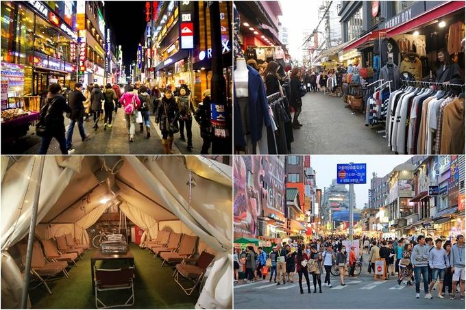 Còn nếu muốn mua sắm nhiều đồ rẻ tiền hơn thì Myeongdong, các khu trường Đại học như Hongdae, Kondae... là gợi ý không tồi, bởi đây là những nơi tập trung đông du khách nên cảnh quang xung quanh cũng được chú trọng, chắc chắn sẽ không làm bạn thất vọng.