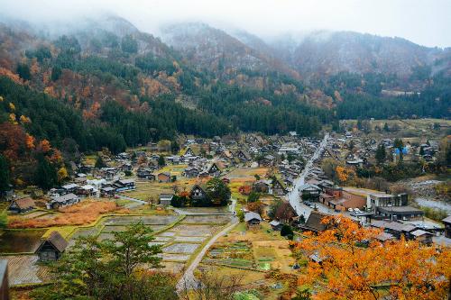 Làng cổ Shirakawa nằm ở phía Tây Bắc tỉnh Gifu, miền trung Nhật Bản vào thu. Ảnh: Nguyên Chi.