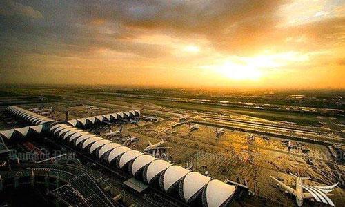 Sân bay Suvarnabhumi nằm trên diện tích 3.200 ha. Ảnh: Bangkokpost.
