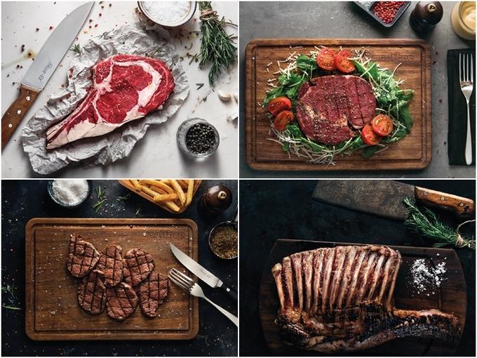 Các món bò, cừu chế biến theo nhiều kiểu khác nhau như bít tết, burger, kebab Thổ Nhĩ Kỳ... kết thúc bằng màn rải muối quen thuộc khiến khách hàng thích thú. Theo nhiều nhận xét thì thức ăn ở đây không nổi trội so với các nhà hàng hạng sang khác.
