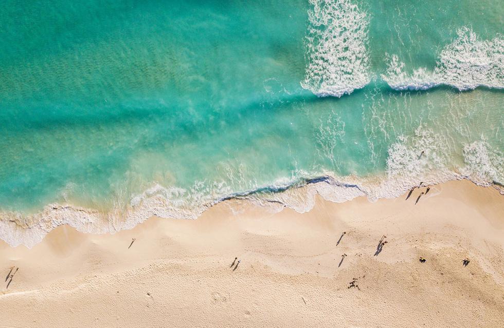 Vẻ đẹp của bãi biển tại bang Quintana Roo được nhìn từ trên không - Ảnh: Iren Key/Shutterstock
