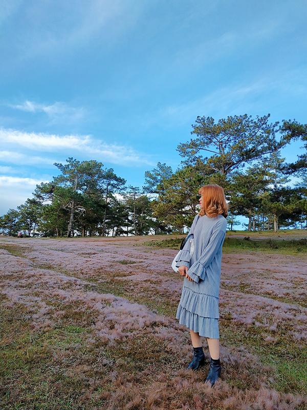 Đồi cỏ hồng là nơi sẽ lý tưởng cho các bạn trẻ thích chụp ảnh. Nhiều đôi uyên ương cũng chọn địa điểm này để chụp ảnh cưới.