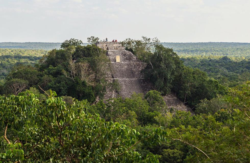 Kim tự tháp cao 45m trong khu tàn tích thành phố Calakmul của người Maya - Ảnh: Iren Key/Shutterstock