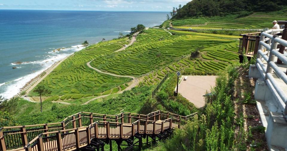 Bán đảo Noto: Nằm ở khu phía bắc tỉnh Ishikawa, bán đảo Noto có những bãi biển và đồng quê thuộc hàng đẹp nhất Nhật Bản. Ảnh: Japan Travel.