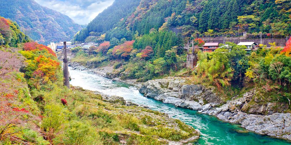 Đảo Shikoku: Shikoku là đảo lớn thứ 4 Nhật Bản, nằm ở phía tây nam Honshu và nối với đảo này bằng hai hệ thống cầu. Tới đây, du khách có thể trải nghiệm tuyến đường 88 ngôi đền thiêng liêng, khám phá những bờ biển tuyệt đẹp, khung cảnh sơn thủy hữu tình. Ảnh: Remoteislands.