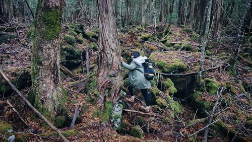 Lan Uyên một mình khám phá khu rừng tự sát.