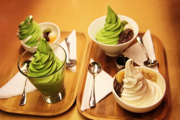 Via Tokyo nổi tiếng với món kem trà xanh - Ảnh: DƯƠNG QUÁN HẠ