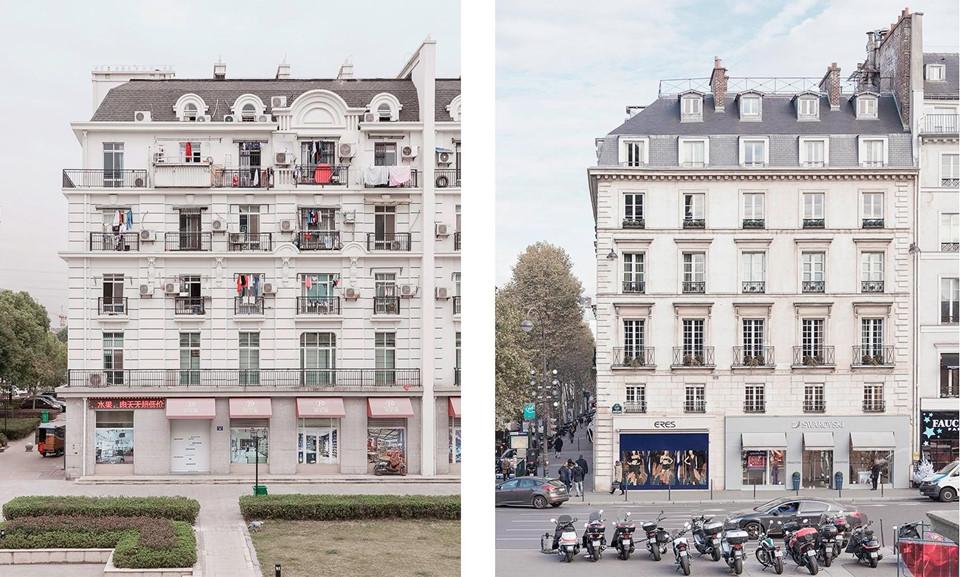 Điều khiến Prost mê mẩn nhất là sự tương phản giữa phương Đông và phương Tây thể hiện qua lối sống của người Trung Quốc trong những tòa nhà kiểu Paris điển hình, ví dụ như các cửa hàng và nhà hàng Trung Quốc tại mặt tiền trông rất Pháp.