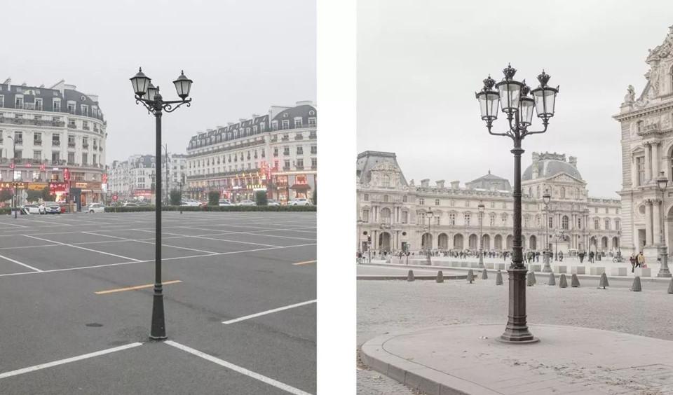 Nhiếp ảnh gia tiết lộ khi những tấm hình đặt cạnh nhau, chúng mang đến trải nghiệm kỳ lạ cho người xem. Nhiều người không thể phân biệt nổi đâu là Paris, đâu là Thiên Đô Thành.