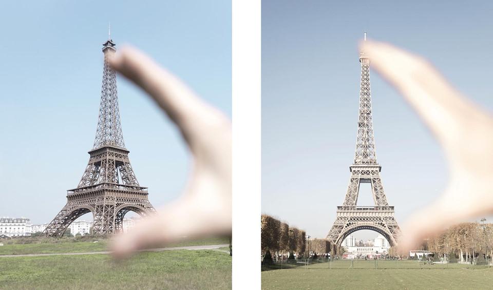 Tháp Eiffel ở đây chỉ cao 108 m, bằng 1/3 tháp Eiffel thật ở Paris.