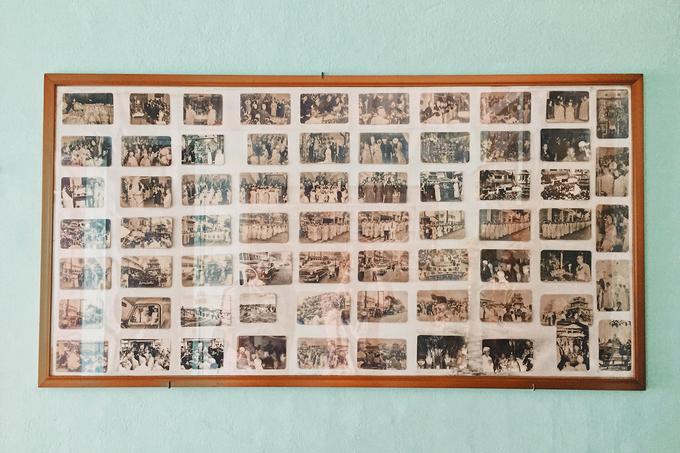Ở một góc chùa có treo nhiều bức hình ghi lại những sự kiện nổi bật của chùa nói riêng và Phật giáo TP HCM nói chung.