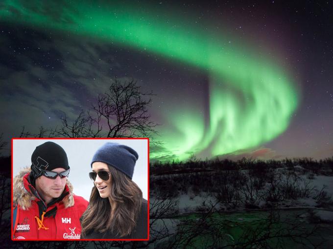 Nhiều nguồn tin xác nhận với Us Weekly rằng cặp đôi đã tới Na Uy vào tháng 1/2017 và ở lại tại một khách sạn sang trọng ở trung tâm của Tromso. Còn theo Telegraph, Hoàng tử Harry đã làm việc với Inge Solheim, một nhà thám hiểm vùng cực, người trước đây chịu trách nhiệm về sự an toàn của Hoàng tử Harry ở Bắc Cực, để lên kế hoạch cho chuyến đi. Đôi tình nhân đã di chuyển tới một địa điểm khá xa trung tâm để chiêm ngưỡng hiện tượng cực quang, sau đó tham gia nhiều hoạt động vui chơi như ngắm cá voi và trượt tuyết bằng xe chó.