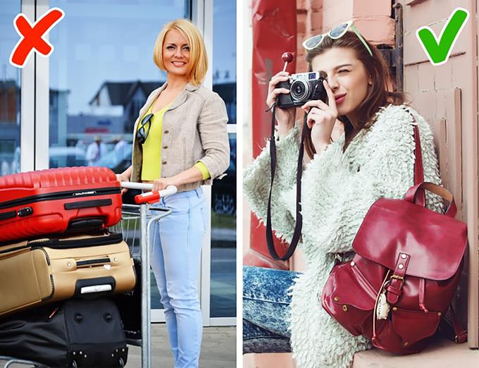 Mang theo quá nhiều hành lý  Nhiều du khách tiết lộ họ nhận ra nhiều thứ trong vali không được dùng đến trong suốt chuyến đi. Cách tốt nhất là bạn nên tìm hiểu thời tiết nơi đến, địa điểm mình sẽ đi rồi mang đồ thích hợp. Đối với những thứ có thể mua tại điểm đến, có sẵn ở khách sạn hoặc không quá cần thiết, hãy mạnh dạn bỏ lại để có túi hành lý gọn nhẹ nhất. Một chiếc khăn lớn có thể dùng làm khăn quàng cổ hoặc làm chăn để đắp. Ảnh: Monticello & Rattleray.