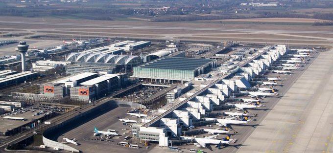 """6. Munich, Đức  Sân bay Munich là sân bay bận rộn thứ hai ở Đức. Nơi đây kết nối với phần lớn địa điểm trên thế giới. Các nhà ga có hơn 50 cửa hàng ăn uống, hơn 150 cửa hàng bán lẻ khiến không ít du khách cảm giác như đang lạc vào trung tâm thành phố, chứ không phải đứng ở sân bay. Nó cũng được bình chọn là """"sân bay tốt nhất châu Âu 2018"""". Ảnh: GetByBus."""