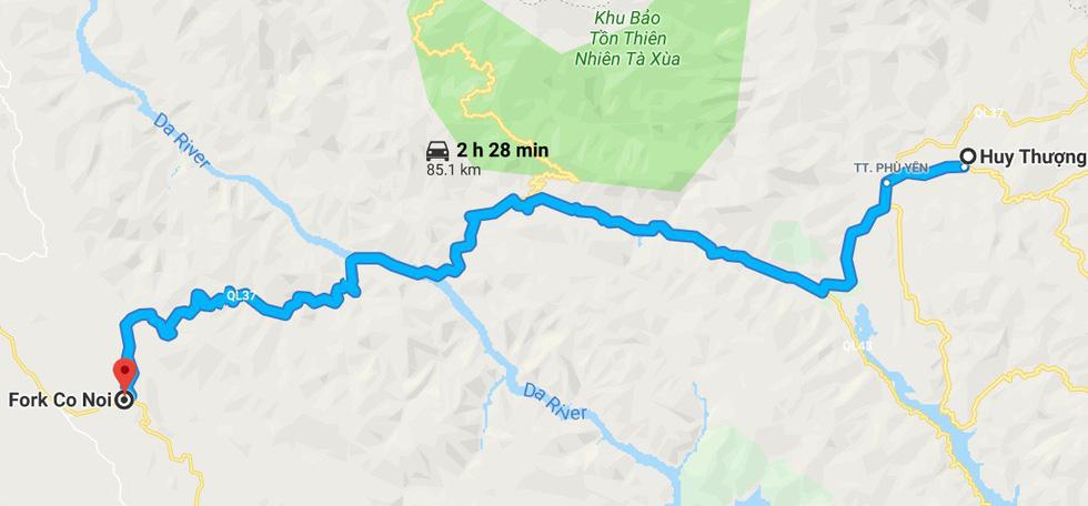 Ảnh cung đường ngắm hoa ban trên quốc lộ 37 dài hơn 100km từ Huy Thượng (Phù Yên) đến Cò Nòi (Mai Sơn) - Ảnh chụp màn hình
