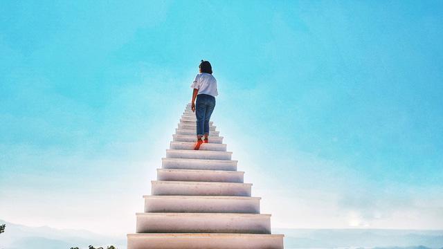 """Nấc thang lên thiên đường """"ảo diệu"""" không kém cạnh ở Đà Lạt. (Ảnh: Bảo Bình)"""