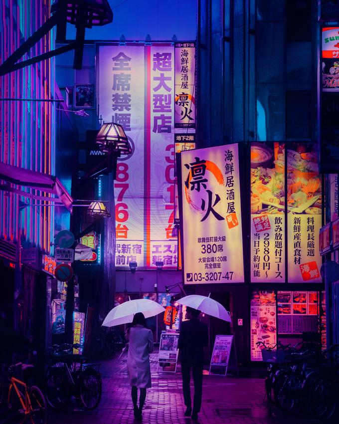 Qua ống kính của nhiếp ảnh gia trẻ, Tokyo khoác lên mình bộ cánh đầy ma mị, lạ lẫm. Đây cũng là bộ ảnh làm nên tên tuổi của Liam, giúp anh trở nên nổi tiếng.