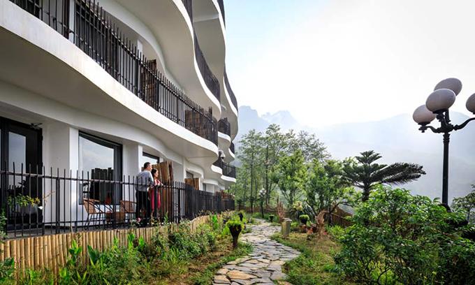 Pao's Sa Pa Leisure Hotel - Khách sạn thiết kế kiểu ruộng bậc thang