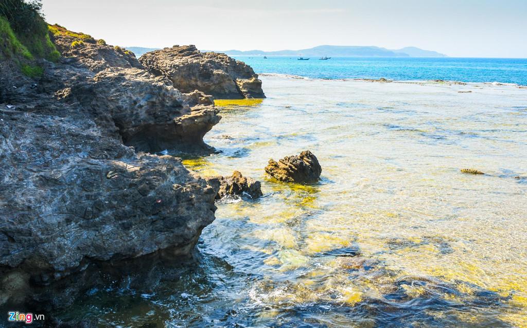 Vách đá sừng sững nhô ra biển tạo nên nhiều hình thù kỳ thú. Hiện Quảng Ngãi đang lập hồ sơ, dự kiến tháng 11 năm nay đề nghị UNESCO xem xét công nhận công viên địa chất này là công viên địa chất toàn cầu.