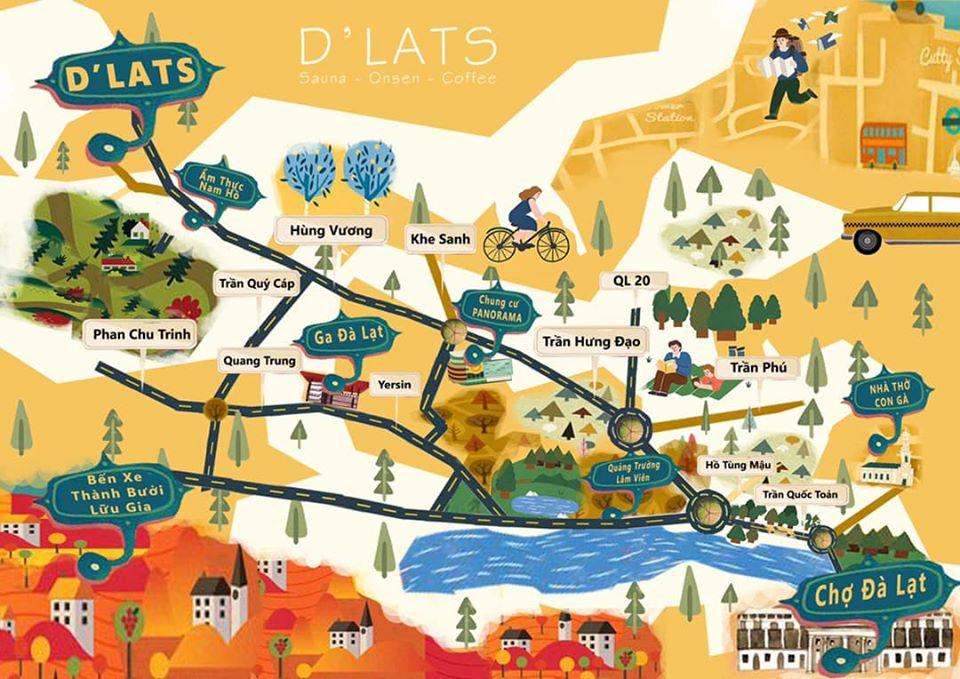 Bản đồ để đến với D'lats
