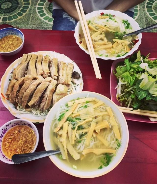 Duck rice noodle in Saigon
