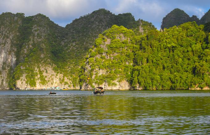 Ngắm cảnh vịnh  Vịnh Lan Hạ nằm liền kề vịnh Hạ Long và bao quanh quần đảo Cát Bà. Đây là một vùng vịnh nước lặng, hình vòng cung với khoảng 400 hòn đảo lớn nhỏ. Khác với Hạ Long, các hòn đảo trên vịnh Lan Hạ đều phủ đầy cây xanh, trải rộng trên diện tích 7.000 ha. Du khách muốn tham quan vịnh chỉ có thể di chuyển bằng tàu, thuyền.