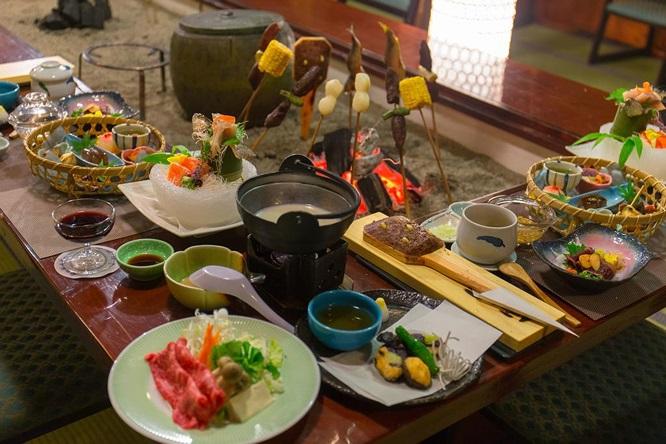 Bữa sáng kiểu Nhật được mang tới tận phòng