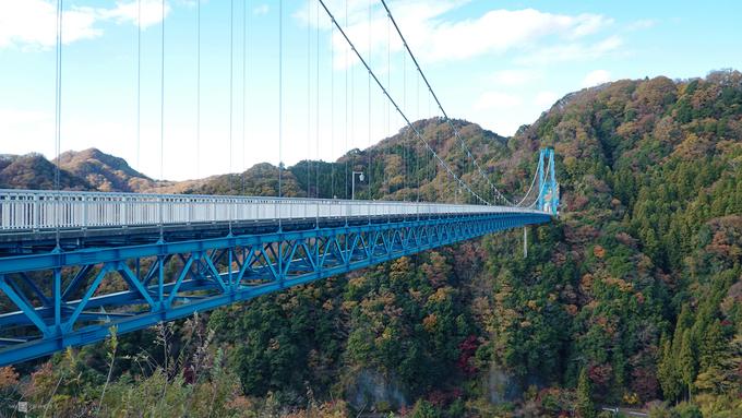 Cầu treo Ryujin nằm trong công viên thiên nhiên Okukuji, tỉnh Ibaraki, Nhật Bản. Với chiều dài 375 m, đây là cầu đi bộ dài thứ 3 tại Nhật Bản, sau cầu Mishima Sky Walk dài 400 m (tỉnh Shizuoka) và Kokonoe Yume Ooturibashi dài 390 m (tỉnh Oita). Đến đây vào mùa thu, du khách như lạc vào một thế giới đa sắc màu của những cánh rừng đang thay lá.