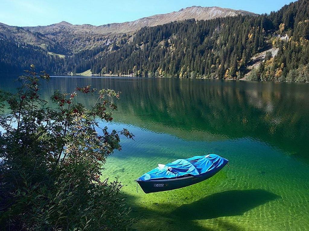 Blue Lake (hay còn gọi là Rotomairewhenua ở Māori) là hồ nước ngọt nhỏ nằm trong Công viên quốc gia Nelson Lakes, New Zealand. Sở dĩ nơi đây được mệnh danh là hồ nước trong nhất thế giới bởi người ta có thể nhìn rõ những sinh vật cả dưới đáy hồ. Ảnh: Youtravel.