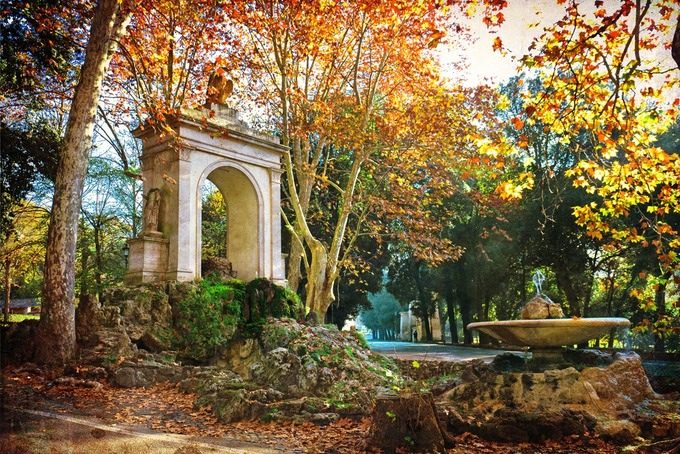Thủ đô Rome, Italy  Từ cuối tháng 9 đến tháng 11, Rome dần thoát khỏi mùa hè nóng nực và đón những cơn mưa bất chợt cùng tiết trời se lạnh vào ban đêm. Vì vậy, mùa thu thích hợp để khám phá thành phố văn hóa, lịch sử của Italy.  Du khách có thể đến công viên Borghese, nơi có khung cảnh cây thay lá ấn tượng nhất ở Rome. Ngoài ra, đạp xe tận hưởng không khí mùa thu, chiêm ngưỡng đấu trường La Mã hay quảng trường Navona là những hoạt động bạn nên trải nghiệm khi tới đây. Ảnh: Lapas77/Shutterstock.