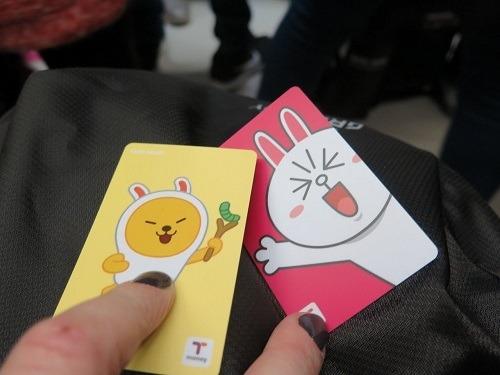 Thẻ T-money có thể sử dụng để đi xe buýt, thanh toán tại siêu thị. Ảnh: Travel Ark.
