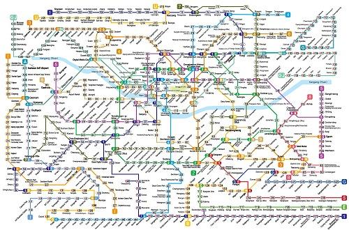 Đọc bản đồ tàu điện ngầm là một khó khăn đối với những du khách lần đầu tới Hàn Quốc. Ảnh: Korea For Expact.