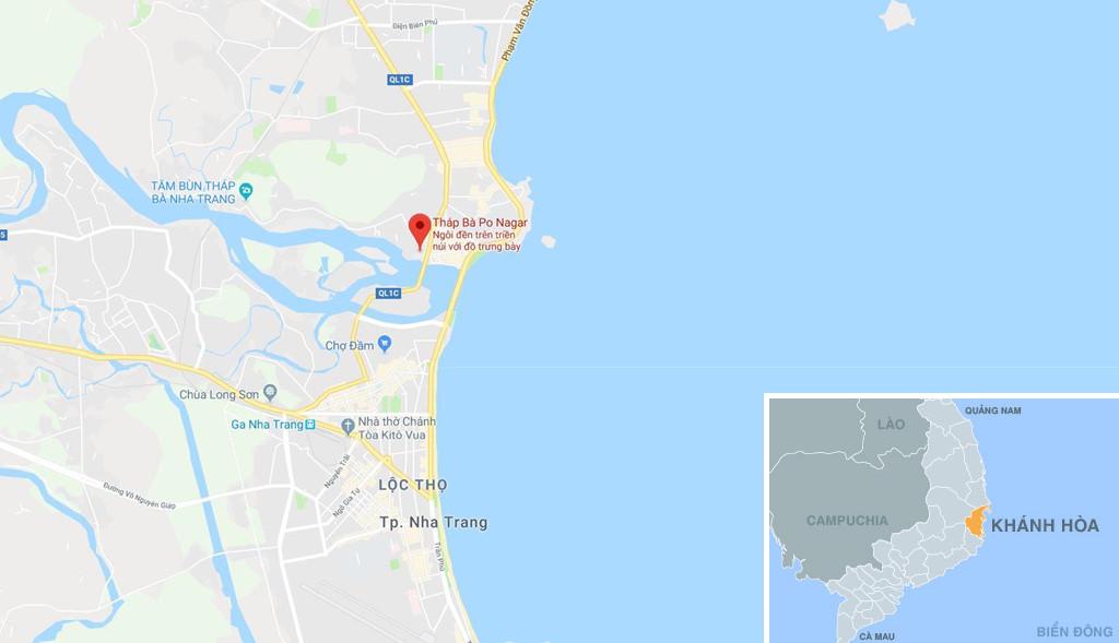 Di tích Tháp Bà Ponagar, ở phường Vĩnh Phước, TP Nha Trang, Khánh Hòa. Ảnh: Google Maps.