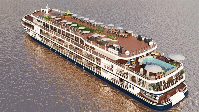 Ảnh: Du thuyền Victoria Mekong