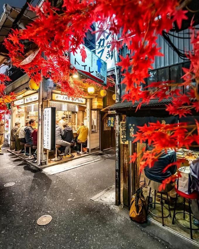 Năm 1999, con hẻm trải qua một trận hỏa hoạn lớn, phá hủy gần như toàn bộ quán ăn. Sau đó, chính quyền phục dựng nhằm bảo tồn nét văn hóa của Tokyo cũ. Con phố được dọn sạch sẽ, xây thêm nhà vệ sinh. Dù không trồng cây nhưng mỗi mùa, các cửa tiệm trang trí một kiểu khác nhau như xuân thì gắn cành anh đào còn thu về thì treo lá phong giả khắp nơi. Ảnh swedishnomad