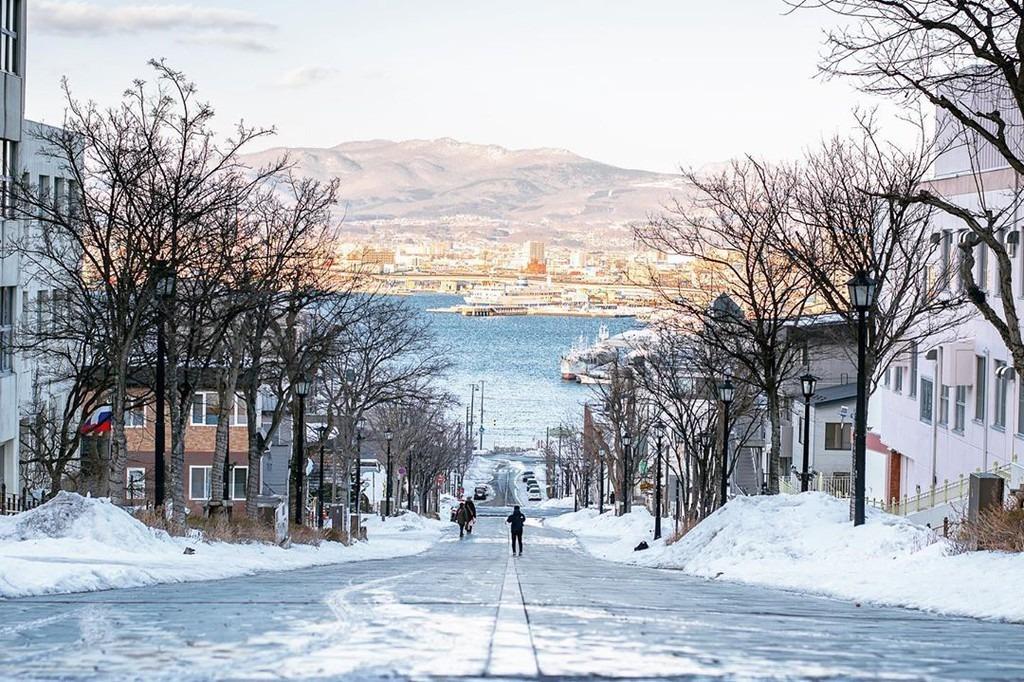 Bởi tuyết rơi dày, một số nơi ở Hokkaido trở thành điểm trượt tuyết lý tưởng như khu Niseko, Furano hay Rusutsu. Miền đất này còn hấp dẫn khách du lịch tới vào mùa đông với lễ hội tuyết Sapporo nổi tiếng. Đi dạo quanh những con đường, ngồi trên chuyến tàu băng qua biển, chìm trong cái lạnh âm độ thấu xương, ngắm nhìn cảnh vật phủ tuyết trắng xóa... là những trải nghiệm các tín đồ du lịch ấn tượng khi ghé Hokkaido. Ảnh: ai2myyy.