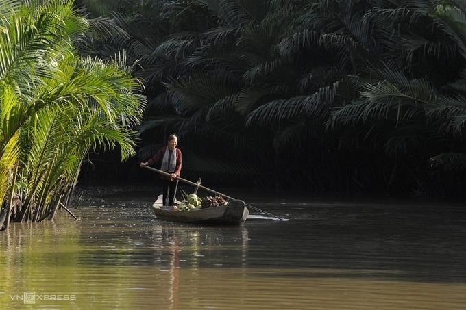 """Tác phẩm """"Bến Tre quê tôi"""" của tác giả Nguyễn Phúc Trung (Bến Tre) đạt giải khuyến khích.  Lễ hội dừa là sự kiện văn hoá của tỉnh Bến Tre nhằm tôn vinh cây dừa và những sản phẩm làm ra từ loài cây này, người lao động trong các ngành nghề gắn bó với dừa."""
