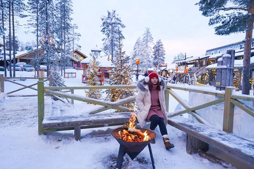 Nhiệt độ ở Phần Lan tháng 1 luôn ở mức âm độ C nhưng cảnh vật đẹp như trong những câu chuyện cổ tích.