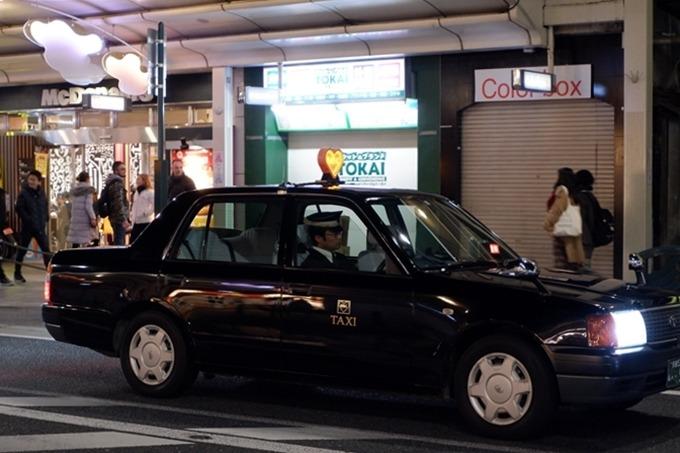 Taxi đêm ở Kyoto