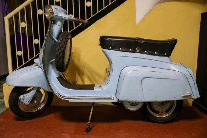 Chiếc xe máy mà những người lính từng sử dụng trong hoạt động biệt động tại nội thành Sài Gòn trước năm 1975.