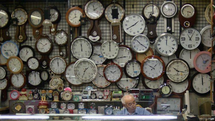 Năm tháng trôi qua, múi giờ của thế giới đã phức tạp hơn nhiều. Ảnh: AFP.