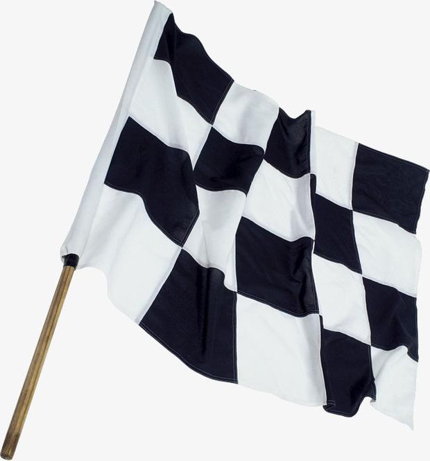 Cờ ca-rô: Cuộc đua đã chính thức kết thúc.