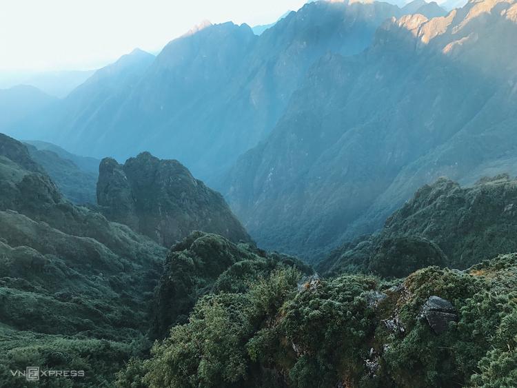 Vẻ đẹp của thiên nhiên mà chúng tôi đã đi qua.