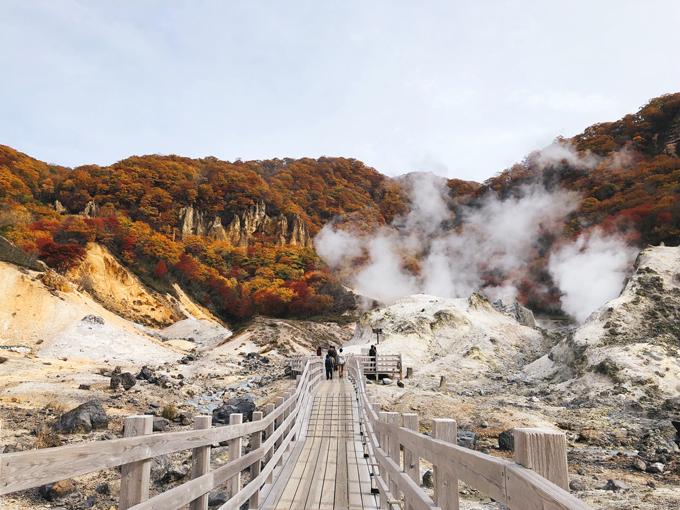 Theo lối đi bằng gỗ kéo dài vài trăm mét, bạn tản bộ tới bục quan sát dừng ở trung tâm của thung lũng.