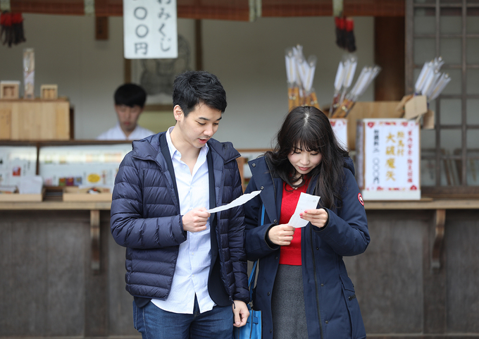 Người Nhật tin rằng chỉ có tại Izumo Taisha mới có thần tình yêu. Hàng năm, ngôi đền thu hút đông đảo người dân trên khắp nước Nhật viếng thăm, đặc biệt là những bạn trẻ chưa tìm được một nửa của mình.