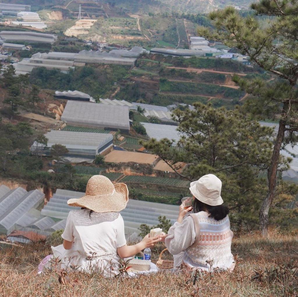 Cách trung tâm Đà Lạt khoảng 8 km về phía thung lũng Vàng, Đa Phú là một ngọn đồi xinh đẹp với những đường mòn dẫn vào rừng thông xanh, rộng mênh mông. Đây là ngọn đồi hoang sơ, chưa được nhiều du khách biết đến và tách biệt với nơi ồn ào, nhộn nhịp ở thành phố. Ảnh: Thegreenagate.